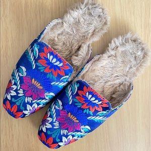 Joie Jean Brocade Sherpa-lined Mules